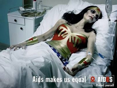 AIDS makes us equal (awareness campaign by AIDES)